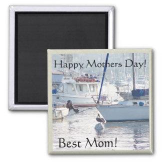 Aimant Jour de mères de mer d'océan de bateaux de