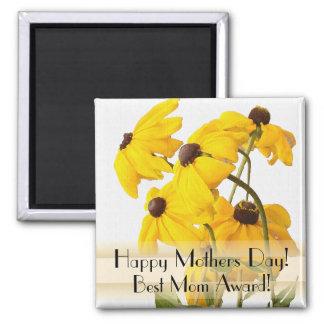 Aimant Jour de mères floral de photographie de jardin de