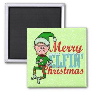 Aimant Joyeuse fumisterie féerique drôle de Bah de Noël