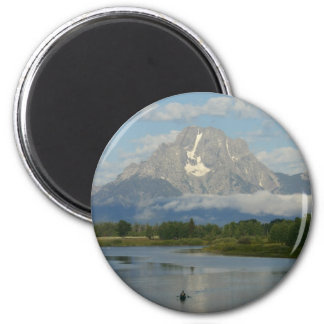 Aimant Kayaking en parc national grand de Teton