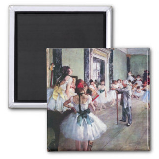 Aimant La classe de danse par Edgar Degas, art vintage de