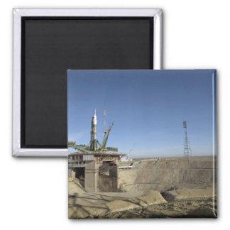 Aimant La fusée de Soyuz est érigée en le place 5
