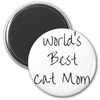 Aimant La meilleure maman du chat du monde - noir