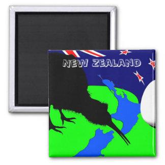Aimant La Nouvelle Zélande, oiseau de kiwi - art (aimant
