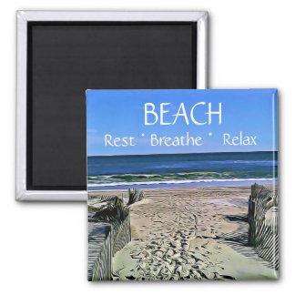 Aimant La plage respirent détendent l'aimant de repos