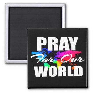 Aimant La prière chrétienne du monde de foi prient pour