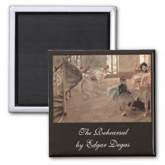 Aimant La répétition par Edgar Degas, art vintage de