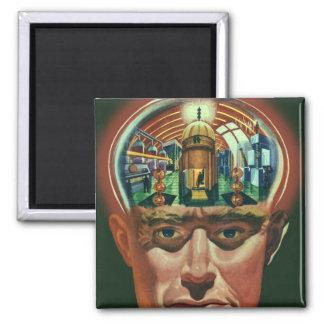 Aimant La science-fiction vintage, cerveau étranger dans