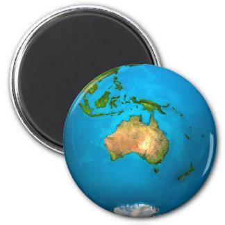 Aimant La terre de planète - Australie - globe coloré. 3d