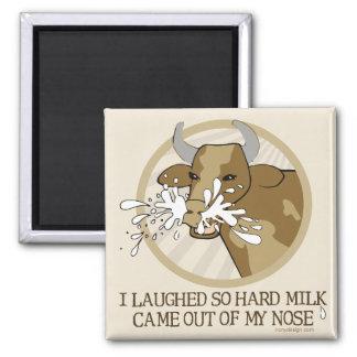 Aimant Lait de vache riant mon nez