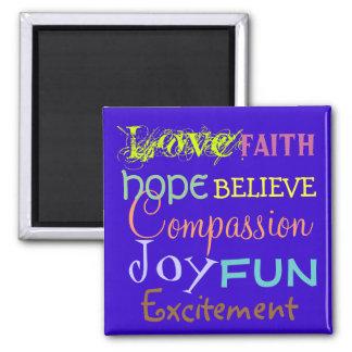 Aimant l'amour, joie, foi, croient des couleurs