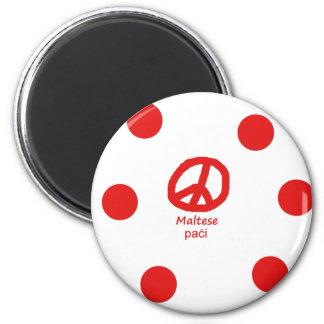 Aimant Langue et conception maltaises de symbole de paix