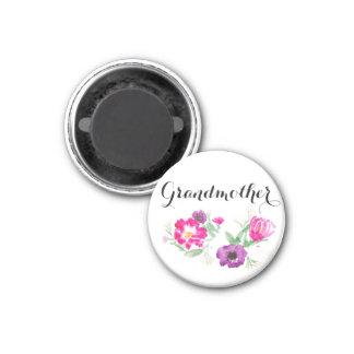 Aimant L'aquarelle de grand-mère fleurit l'aimant