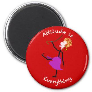 Aimant L'attitude est tout - femme supérieure