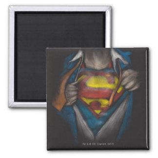 Aimant Le coffre de Superman   indiquent le croquis