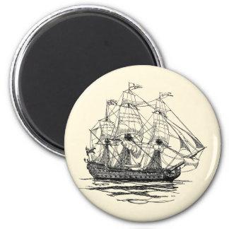 Aimant Le cru pirate le galion, croquis d'un bateau