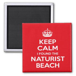 Aimant Le naturiste/nudiste gardent le calme
