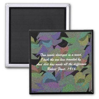 Aimant Le pastel laisse à Robert Frost l'aimant de poème