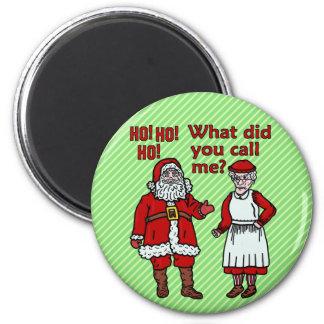 Aimant Le père noël et Mme drôles Christmas