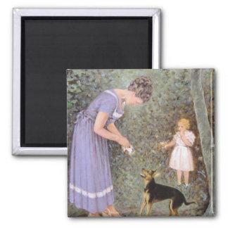Aimant Le petit chien avide par Guido Marzulli, réalisme