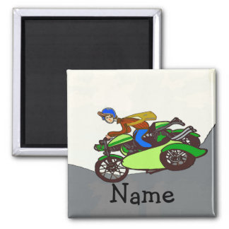 Aimant Le scooter, sidecar, ajoutent le nom