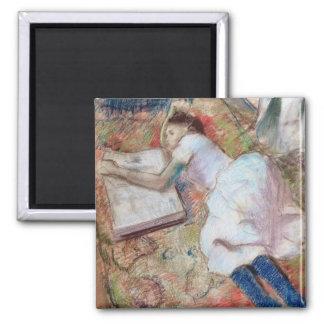Aimant Lecteur d'Edgar Degas | se couchant, c.1889
