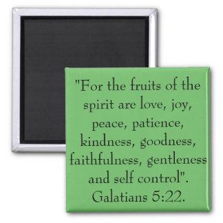 Aimant Les fruits de l'esprit sont amour, joie, paix
