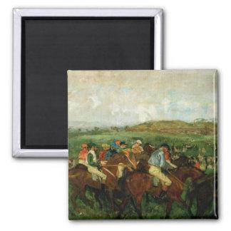 Aimant Les messieurs d'Edgar Degas | emballent, avant le