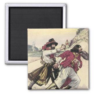 Aimant Les pirates vintages, duel labourent la mort sur