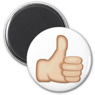 Aimant Les pouces lèvent le signe Emoji