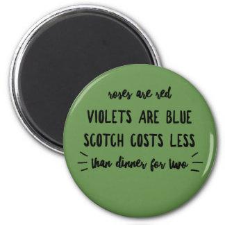 Aimant Les roses sont coût écossais bleu de violettes