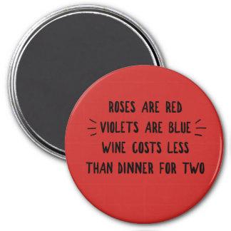 Aimant Les roses sont les violettes rouges le vin que