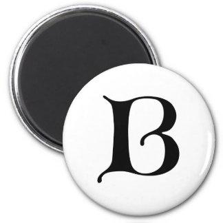 Aimant Lettre gothique B de monogramme des textes anglais
