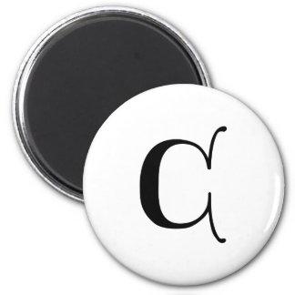 Aimant Lettre gothique C de monogramme des textes anglais