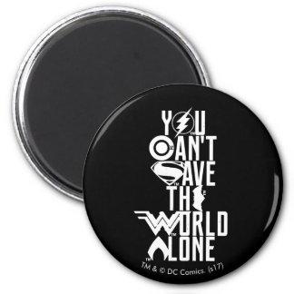 Aimant Ligue de justice | vous ne pouvez pas sauver seul