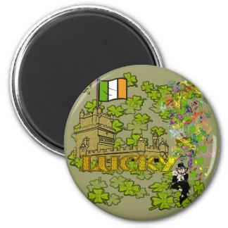 Aimant Lutin chanceux et son château irlandais