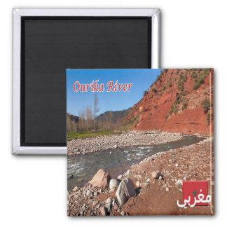 Aimant MA - Le Maroc - la rivière d'Ourika
