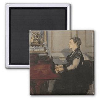 Aimant Madame Manet au piano, 1868 de Manet |