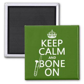 Aimant Maintenez calme et 'os sur (trombone - toute