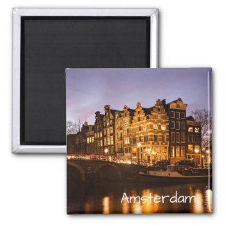 Aimant Maisons de canal d'Amsterdam à l'aimant des textes