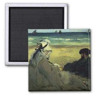 Aimant Manet | sur la plage, 1873