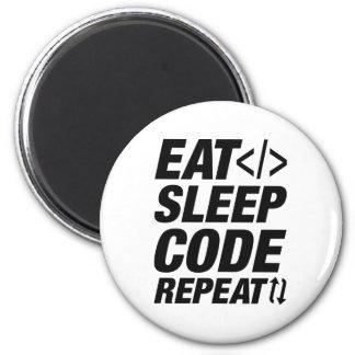 Aimant Mangez la répétition de code de sommeil