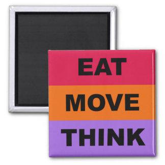Aimant Mangez le mouvement pensent l'aimant