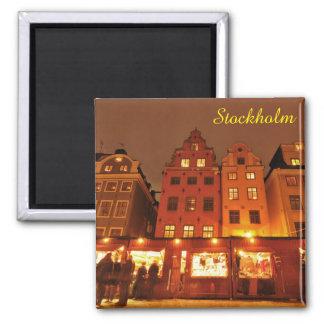Aimant Marché de Noël à Stockholm, Suède