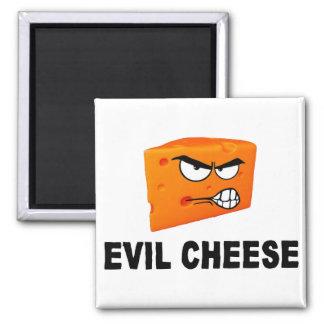 Aimant mauvais de carré de fromage