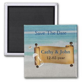 Aimant Message dans un mariage de plage de bouteille