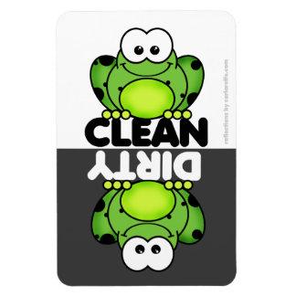 Aimant mignon de lave-vaisselle de grenouille magnet
