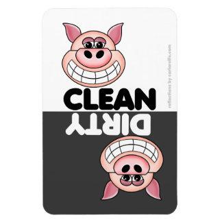 Aimant mignon de lave-vaisselle de porc magnets souples