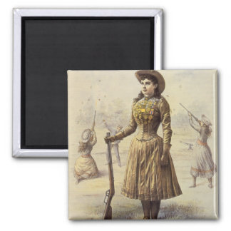 Aimant Mlle vintage Annie Oakley, cow-girl occidentale