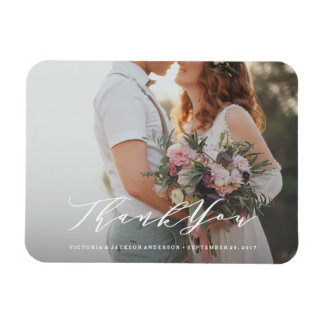 Aimant mol de photo de Merci de mariage de Magnet Rectangulaire Avec Photo